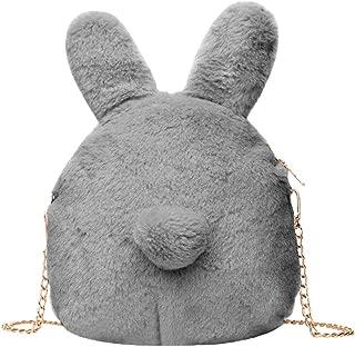 Everpert Women Plush Shoulder Bag Cute Plush Rabbit Messenger Bag Crossbody Bags