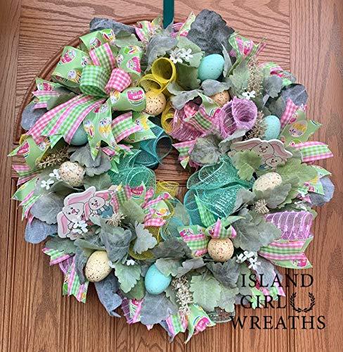 Easter Wreath Deco Albuquerque Free shipping Mall Grapevine Mesh
