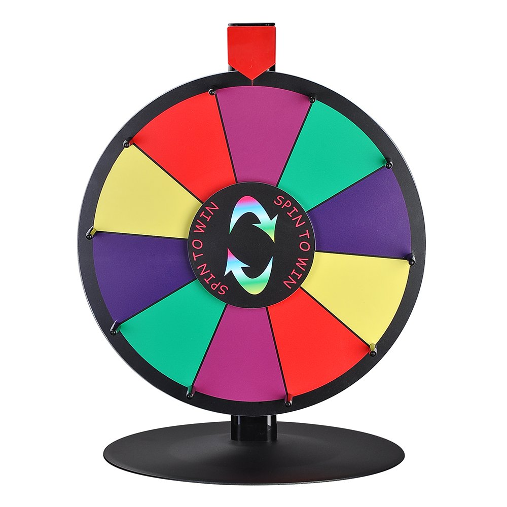 15 10 Slot Tabletop Color Dry Erase Prize Wheel and Stand Fortune ...