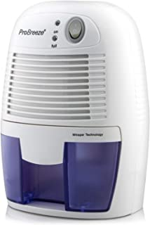 Pro Breeze Electric Mini Dehumidifier, 1200 Cubic Feet (150 sq ft), Compact and Portable..