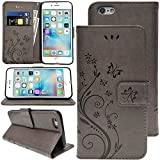 KUAWEI Coque iPhone 6 6S Etui Cuir iPhone 6 6S Cover Flip Cover avec Fonction Stand...