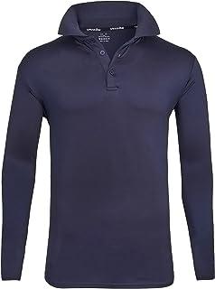 ZITY Mens Polo Shirt Sun Protection Quick-Dry Sweat-Wicking Long Sleeve Sports Golf Tennis T-Shirt