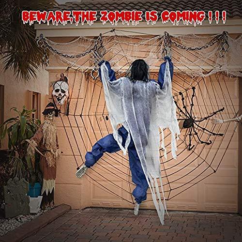 Lateefah 63inch Hanging Zombie Halloween Climbing Dead Zombie Monster Prop Halloween Decorations for...