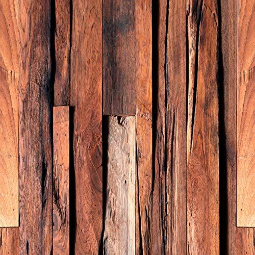 decomonkey Fototapete | Tapetenrolle 10 m | Vliestapete Deko Panel Modern Design Wanddeko Wandtapete | Holzoptik Bretter