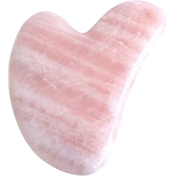 CCbeauty Gua Sha Scraping Tools Natural Rose Quartz Handmade Guasha Facial Board for SPA Acupuncture