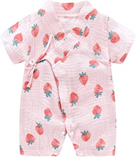 Lanhui Infant Baby Girl Boy Footed Sleeper Floral Jumpsuit Flower Print Pleats Romper Headband Outfits Set for Sleep and Play