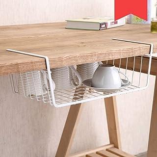 HSada Under Shelf Basket - Multipurpose Metal Wire Storage Basket - Hanging Undershelf Basket Storage Rack with Hooks for Kitchen Pantry Cabinet Closet Office