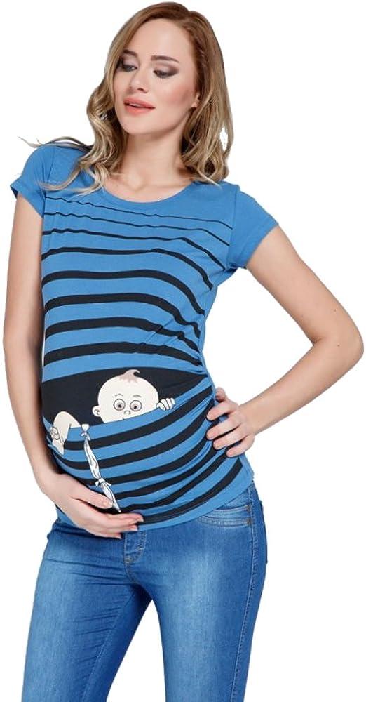 Fuga de bebé - Moda premamá Divertida y Dulce - Camiseta premamá Sudadera con Estampado Durante el Embarazo - Camiseta premamá, Manga Corta
