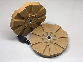 عجلة ممحاة مطاطية 30094A من نيكو 4 بوصة لللاصق والملصق والمنقط والشارات والرسومات، تأتي مع محول عرقوب سداسي 1.5 سم، لون أصفر