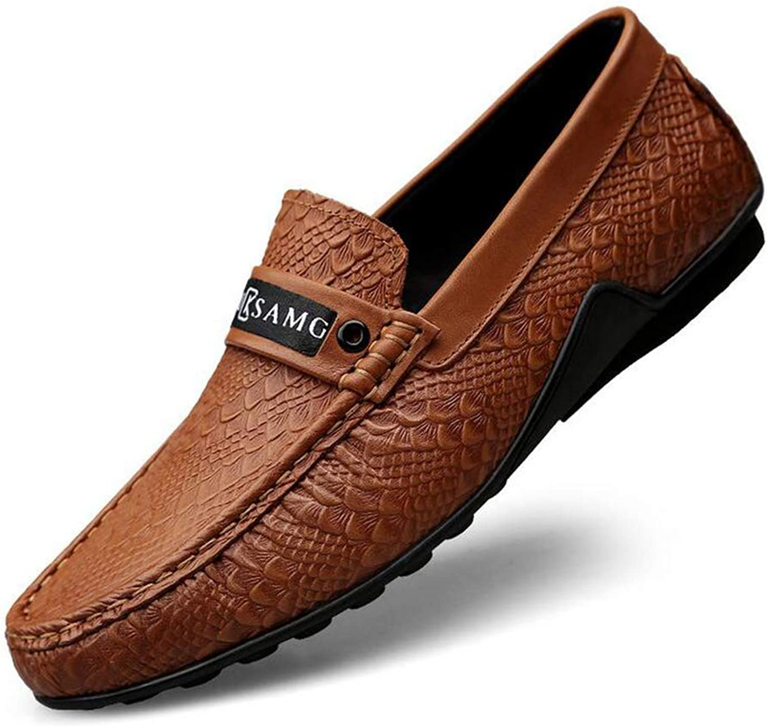 Y-H Men's Casual shoes, Spring New Walking shoes,Loafers & Slip-Ons Lazy shoes Peas shoes Formal Business shoes Office & Career,Brown,46