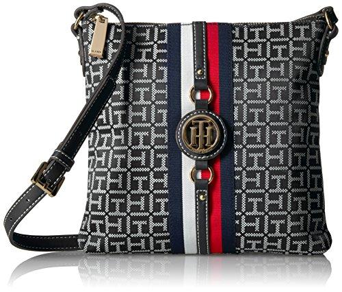 Tommy Hilfiger Crossbody Bag for Women Jaden, Black/White