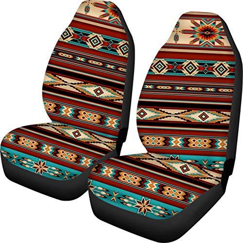 Belidome Fundas de asiento de coche con rayas aztecas, protege el accesorio interior del vehículo de desgaste sucio, ajuste universal