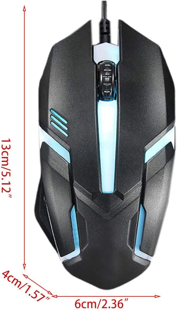 Ergonomic Wired Gaming Mouse Button LED 2000 DPI USB Computer Mouse With Backlight For PC Laptop Gamer Mice S1 Silent Mause Silent Mute Keyboard Business Office Use Wireless Keyboard Gaming Mechanical