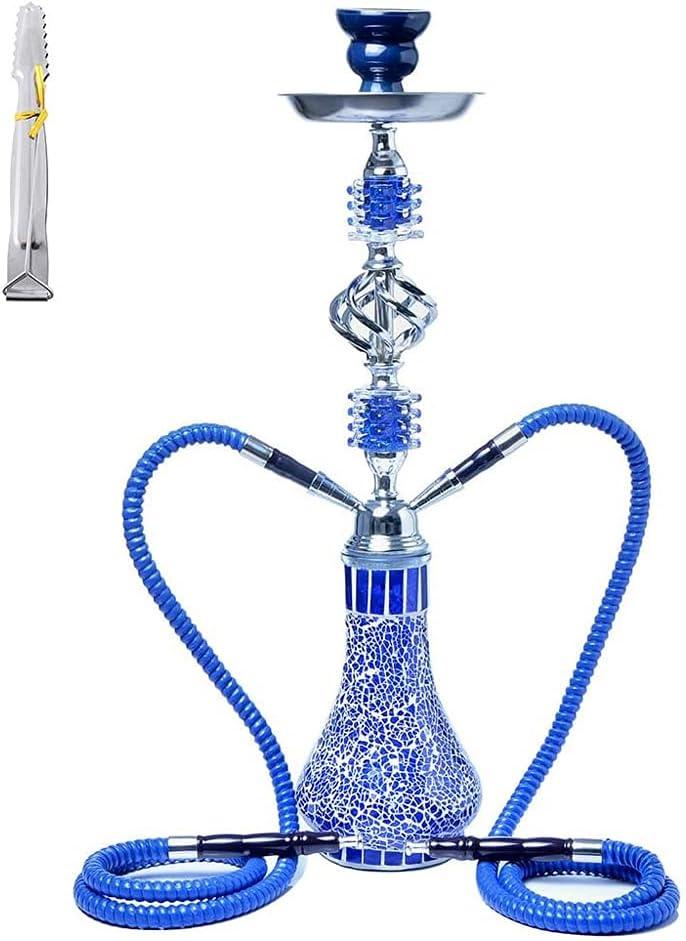 SSOLEREIT Hookah Set Double Pipe Hookah Glass Hookah Cachimba árabe Grande de Doble Pipa, Adecuada para Fiestas de Hotel de Bares Familiares y narguiles para Hombres y Mujeres