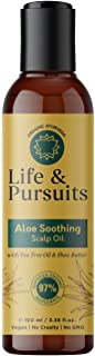 Life & Pursuits Aloe Soothing Scalp Hair Oil (100 ml), Relief From Dry, Itchy Scalp | Tea Tree Oil, Aloe Vera, Shea Butter...