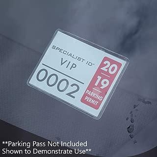 plastic parking passes
