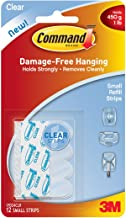 Command Refill Strips, Small, Clear, 12-Strips (17024CLR-ES)