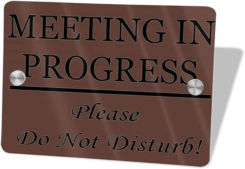 2vf78wew11 Meeting In Progress Please Do Not DisturbCustom Door Sign 5 5 X 7 5 Door Suite Wall Sign Name Plate For Wall Front Door Decor Indoor Outdoor