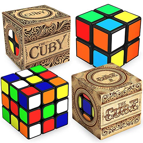 Double The Fun with More Precise Than Original 2x2 and 3x3 Cube Bundle   Speed Cubing for Presents   Challenging and Fun for Kids and Adults  Easy Turning and Smooth Play