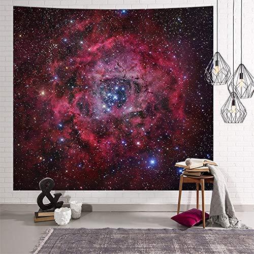 KHKJ Creativo Galaxy Cielo Estrellado Colgante de Pared Luna Noche Tapiz Personalidad Hippie Retro decoración del hogar Tapiz A3 200x150cm