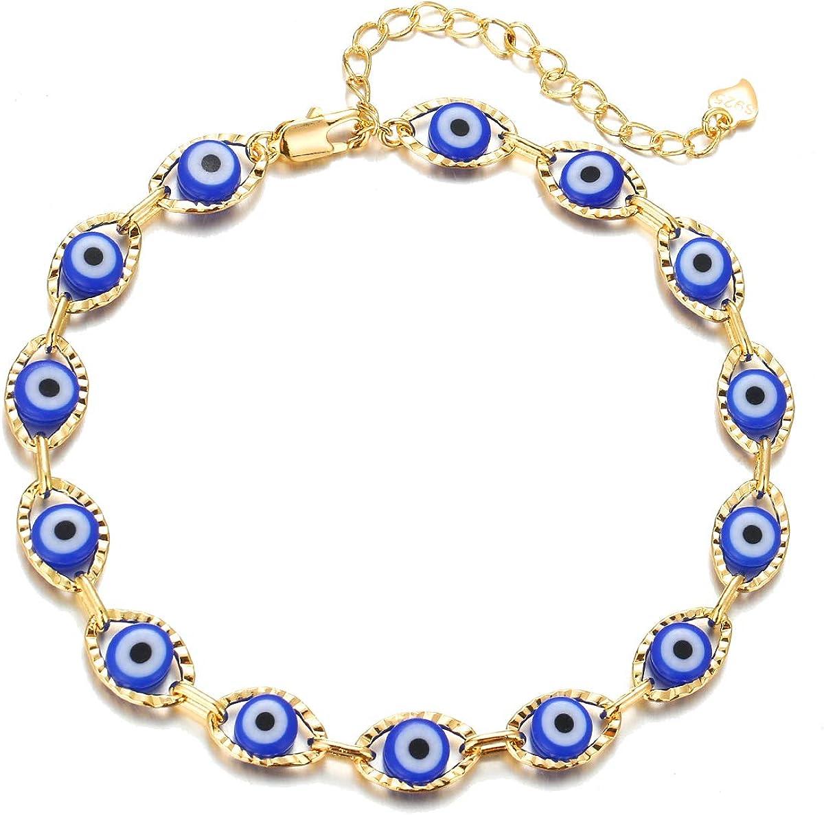 choice of all Dainty Evil Eye Bracelets for Women,14K Gold Evil