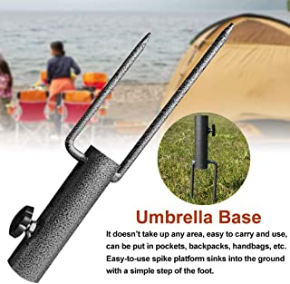 Fealay Base per Ombrellone da Spiaggia Porta Pesi Portatile Pieghevole Portapacchi Base Tonda per Terrazza Esterna