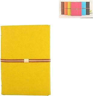 264 Pages KKDragon Cahier A5 Carnet de Notes Papier Lign/é et Papier Vierge Total 132 Feuilles Couverture Rigide avec Tissu Bleu Marine