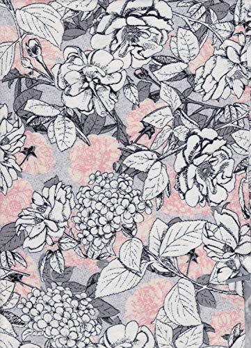 e.FEMME KAJA 497 - Pijama para mujer de viscosa con elastano Salmón/flores. 48
