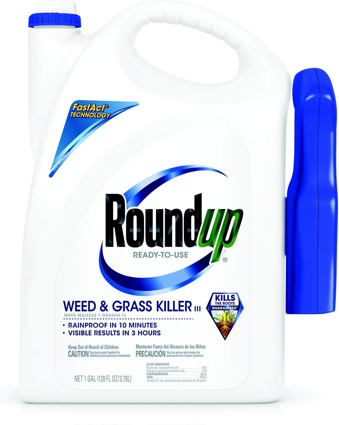 Roundup Ready-To-Use Weed & Grass Killer III Trigger Sprayer, 1 gal.