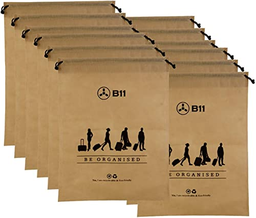 Fabric Jumbo Size Packing Organizer Storage Bag Beige Pack Of 12