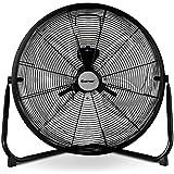 COSTWAY Floor Fan, 20-Inch w/360° Rotation, 3-Speed Adjustable, Commercial Industrial Grade, Metal, Heavy Duty Electric High Velocity Fan, Black