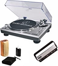 Audio-Technica AT-LP120-USB Direct Drive Turntable with Knox Brush and Cleaning Kit
