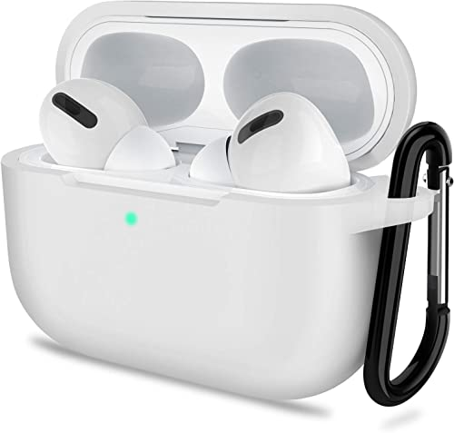 AirPods Pro Case, ATUAT Protective Silicone Cover Compatible with Apple AirPods Pro (2019) - Clear