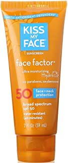 Kiss My Face Face Factor Face + Neck Sunscreen SPF 50 2 OZ (Pack of 3)