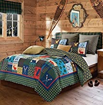 Duke Imports 3-Piece Lake and Lodge Quilt Set, Queen