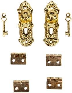 6th 10pcs Mini Door Knobs Handles Dollhouse Miniature DIY Accessory Bronze