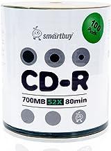 Smartbuy 700mb/80min 52x CD-R Logo Top Blank Data Recordable Media Disc (1800 Disc)