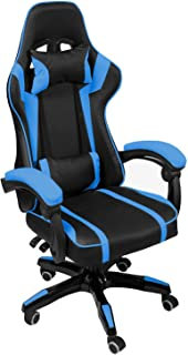 AudioTek Silla Gamer Gaming Consolas Pc Ergonomica Reclinable Colores (Azul)