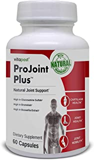 ProJoint Plus | Natural Joint Support with Glucosamine, Boswellia, Turmeric, Bromelain, for Joint & Cartilage Health and Mobility, 60 Capsules