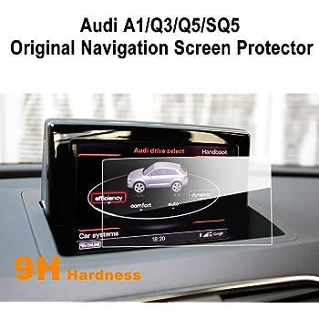 LFOTPP Infiniti Q50 Q60 Navigazione Pellicola Protettiva in Vetro Temperato Screen Protector Film 9H Antigraffio HD Alta Trasparente 2 pezzi