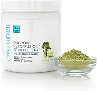 Consult Health Dubrow Keto/Fusion Primo Celery Organic Powder Dietary Supplement