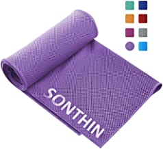 SONTHIN Sports Towel for Golf Yoga Camping Travel Gym Fitness Workout and More Sports (Purple)