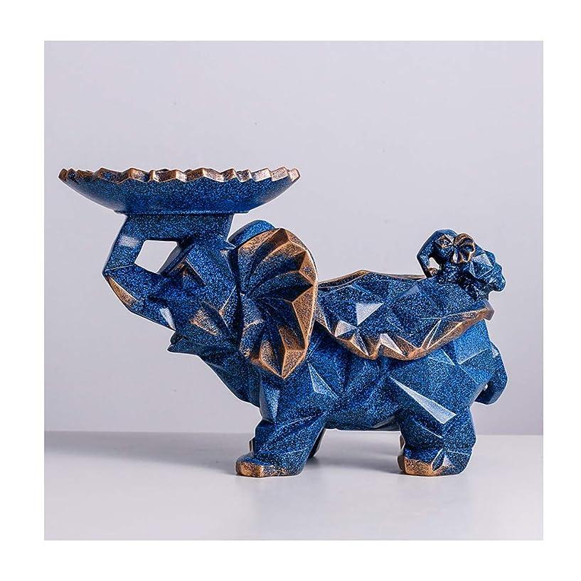 ブロック項目グローブLWT-Tissue Box 北欧ティッシュボックス装飾多機能紙箱リビングルームのコーヒーテーブル収納ボックス38×24センチ (Color : Dark blue)