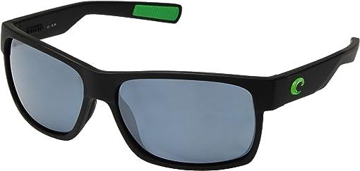 Matte Black/Green Logo Frame/Gray/Silver 580P