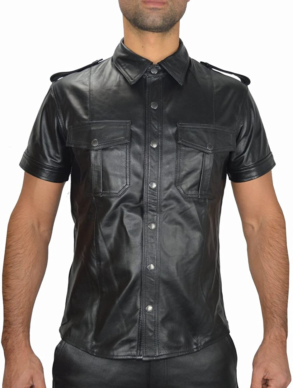 Leather Special price PRIDE Shirt Quality inspection Uniform Military Eroti