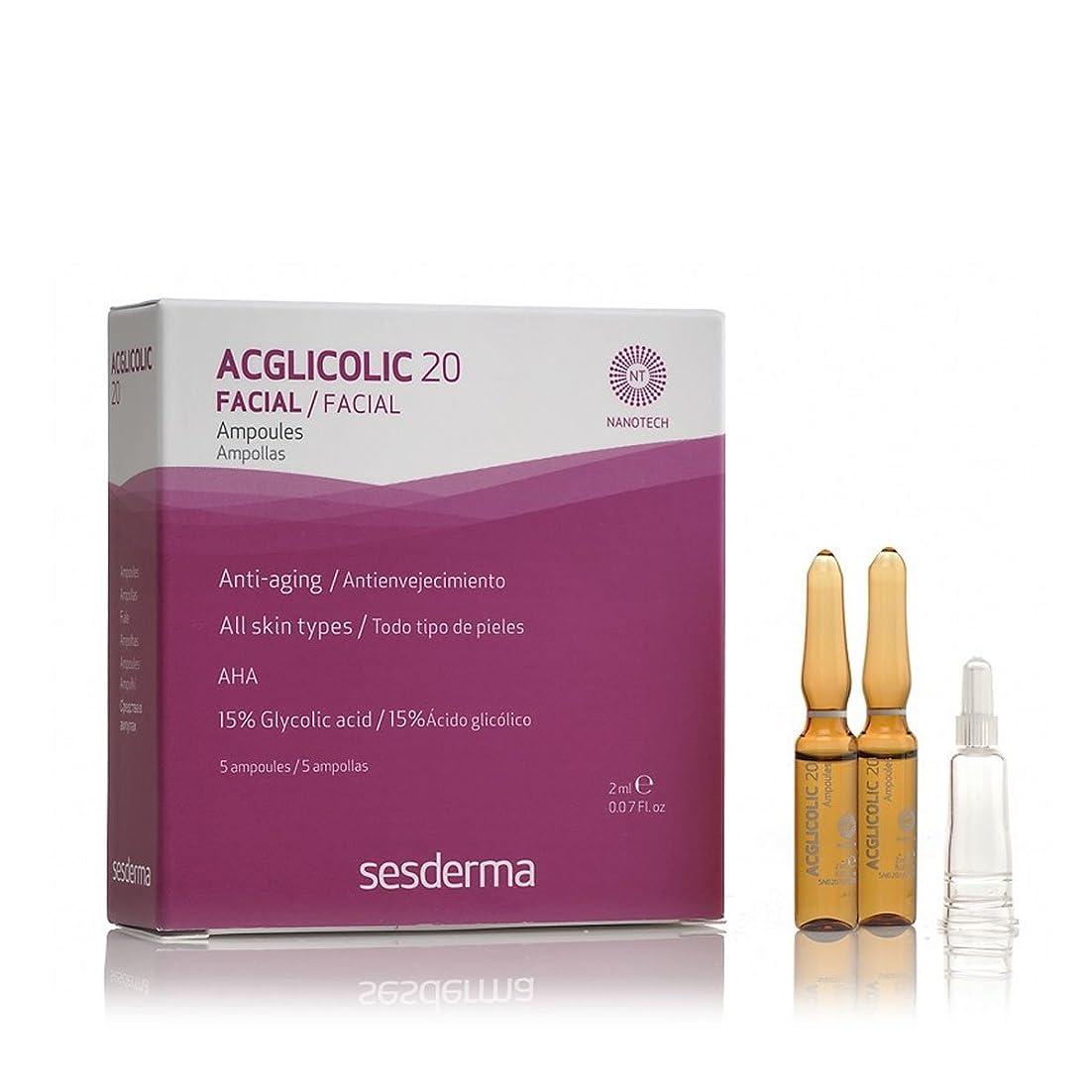 ツーリストミントミントSesderma Acglicolic 20 Ampoules 5x2ml [並行輸入品]