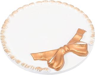 Lurrose 1Pc Rodada Anel Bandeja de Jóias Bandeja Trinket Dish Titular Decor Placas de Resina Prato Borboleta Anel Prato Pa...