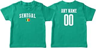 Senegal T-shirt Kids Infant Country Flag Tee Personalized World Cup Pride
