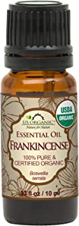 US Organic 100% Pure Frankincense Essential Oil - USDA Certified Organic - 10 ml - Improved caps and droppers, Use Topical...