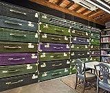 Fotomurales Decorativos Pared Vinilos Decorativos Papel Fotografico 3D Mural Tema Bar Restaurante Casa Club Tienda Equipaje Antiguo Maleta Herramientas Pared